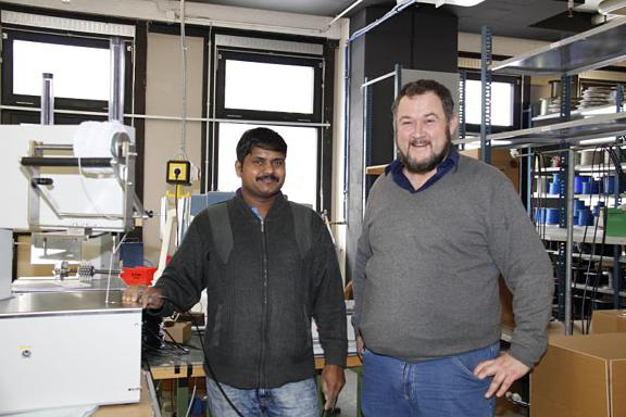 Bild Antony Jeyakumar mit Thomas Botta